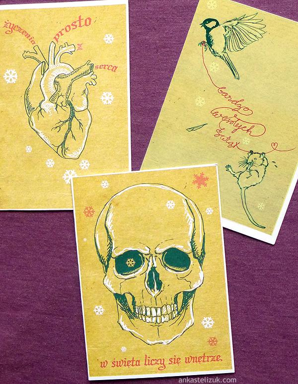 radosne kartki świąteczne / grafika komputerowa