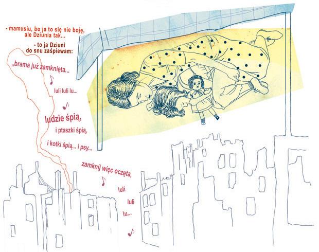 """opublikowany w antologii komiks powstańczy """"Kołysanka dla Dziuni"""""""